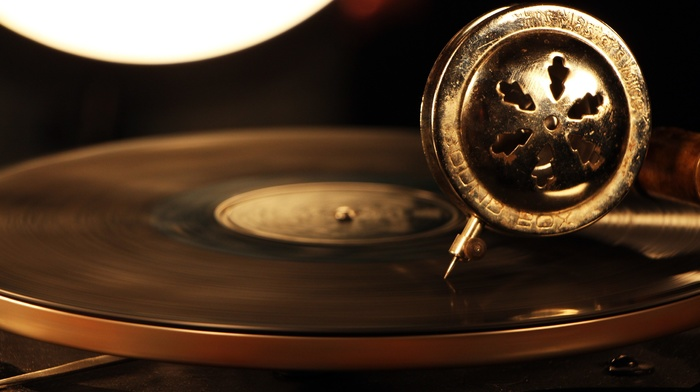 playing, vinyl, vintage, circle, technology, music, Speed blur, Gramophone