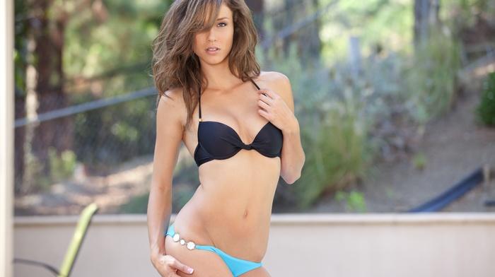 girl outdoors, girl, Malena Morgan, pornstar, brunette, bikini