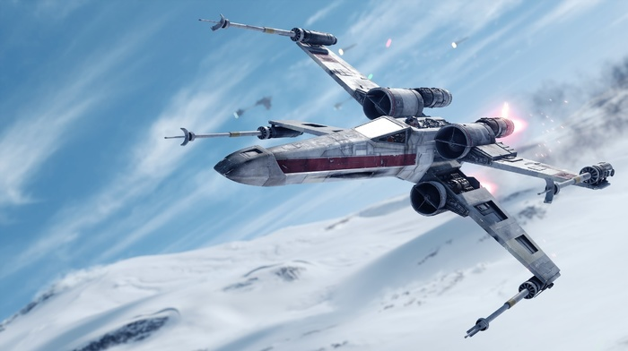 video games, Star Wars, Star Wars Battlefront, x, wing, Hoth
