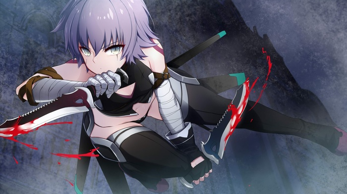 knife, Assassin of Black, fate series, Jack the Ripper, FateApocrypha, anime, anime girls