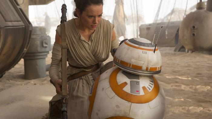 Jakku, Star Wars Episode VII, The Force Awakens, Rey from Star Wars, Star Wars, desert, BB, 8