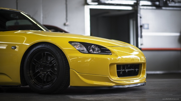 car, JDM, tuning, honda s2000, yellow cars