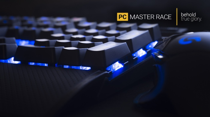 PC gaming, hardware, keyboards, technology, computer mice, Master Race, computer