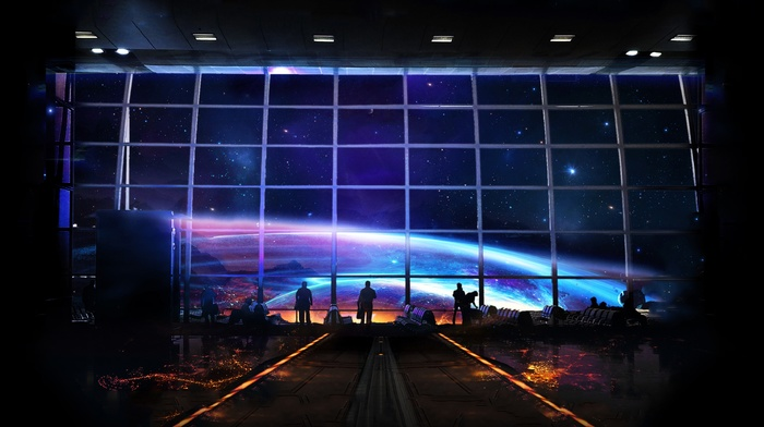 stars, airport, space, planet
