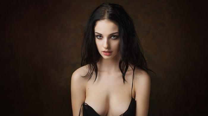 simple background, Alla Berger, girl, Maxim Maximov, model, portrait