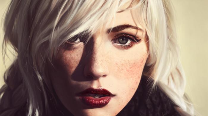 freckles, blonde, girl