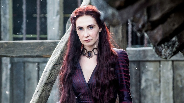 redhead, TV, girl, actress, blue eyes, long hair, dress, Carice van Houten, Melisandre, Game of Thrones