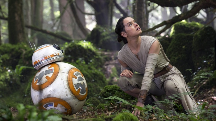 robot, science fiction, Star Wars, BB, 8, girl, Rey, Daisy Ridley, actress, movies, Star Wars Episode VII, The Force Awakens