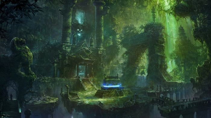 imagination, green, temple