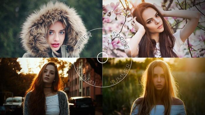 winter, springs, summer, brunette, Autumn Reeser