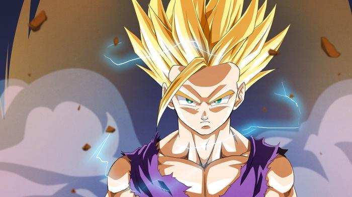Super Saiyan 2, Dragon Ball, anime, Son Gohan, Dragon Ball Z, Super Saiyan, Gohan