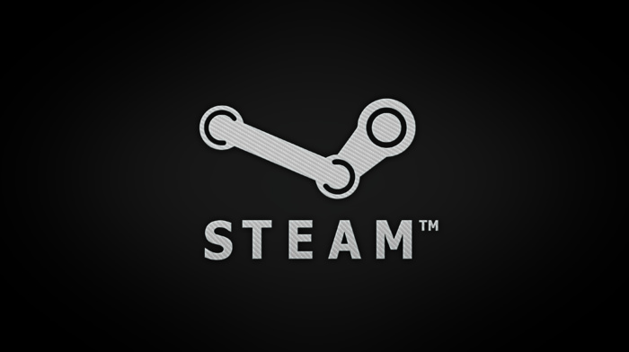 typography, logo, gradient, Steam software