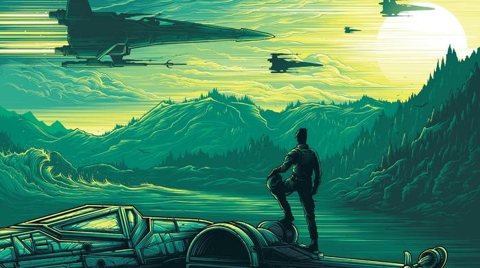 X Wing Dan Mumford Star Wars Episode VII The Force Awakens Download Wallpaper