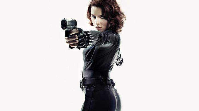 Scarlet Johansson, actress, gun, Black Widow