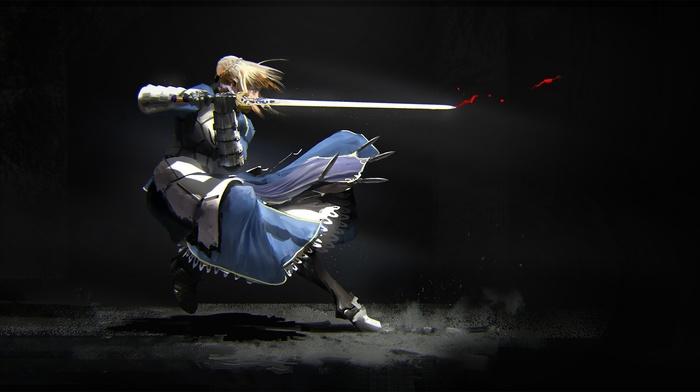 FateStay Night, fate series, anime, anime girls, Saber