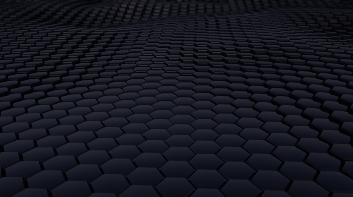 abstract, minimalism, 3D, texture, structure, hexagon, CGI, 3d object, digital art