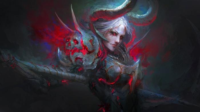 armor, fan art, blood