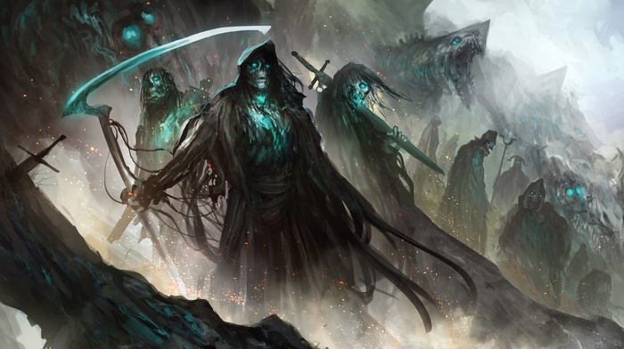zombies, fantasy art, artwork, dead