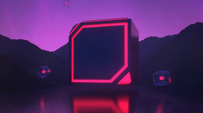 science fiction, landscape, digital art