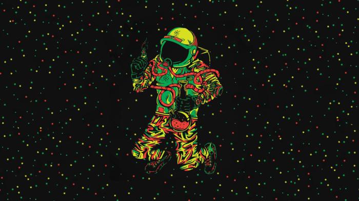 stars, bong, astronaut, cannabis, space