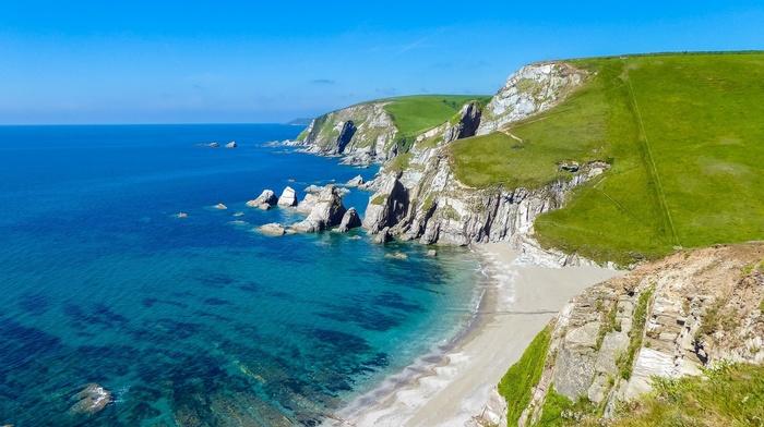 England, landscape, sea