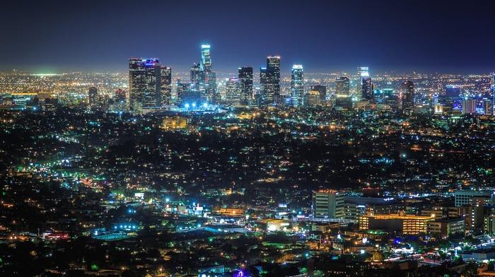 city, los angeles, night