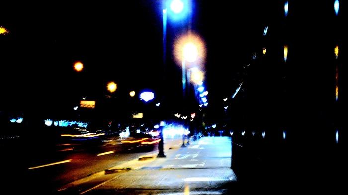 night, street, photography, city, street light