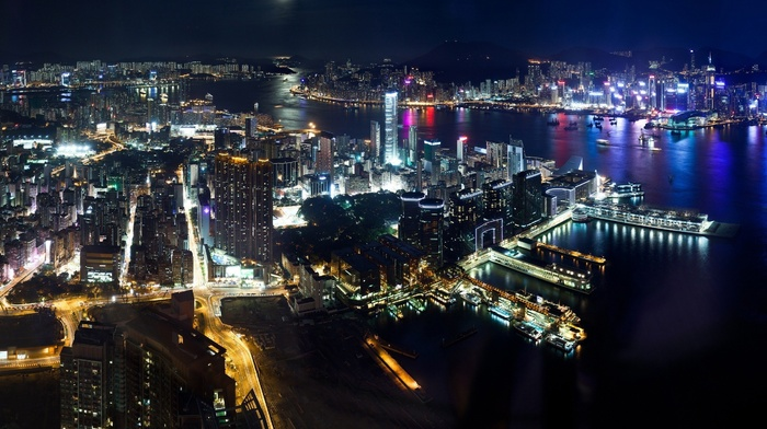 city, night, ports, harbor, photography, skyscraper, Hong Kong, building, urban, architecture, Victoria Harbour, cityscape