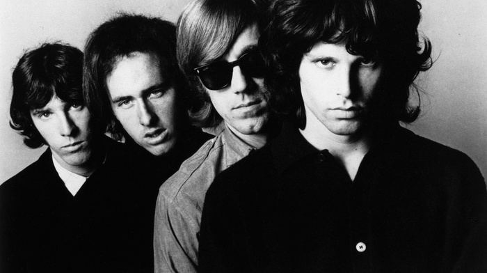 Jim Morrison, The Doors Music, monochrome, music, rock  roll, sunglasses, men