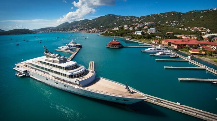 bay, yachts, ship