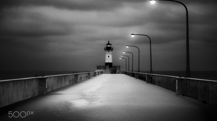 photography, lighthouse, pier