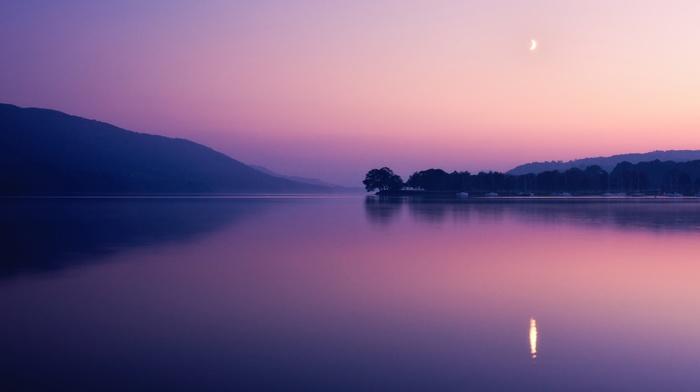 photography, dusk, landscape, reflection, sunset, lake, nature, water