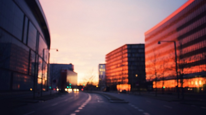 street, building, blurred, architecture, photography, city, road, urban
