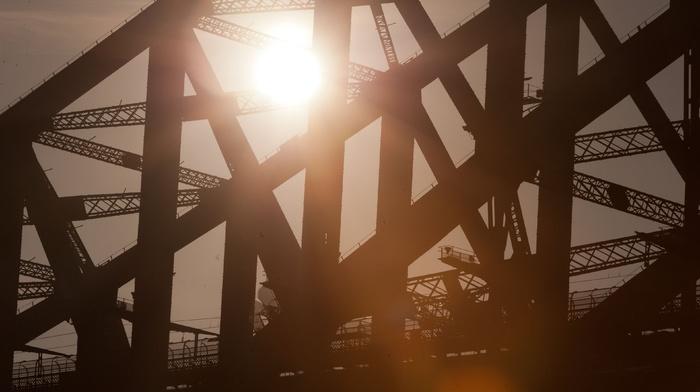 architecture, bridge, Sydney, urban, Sydney Harbour Bridge, Sun, city, photography