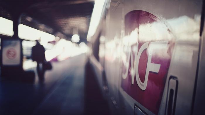 photography, depth of field, SNCF, train station, train, TGV