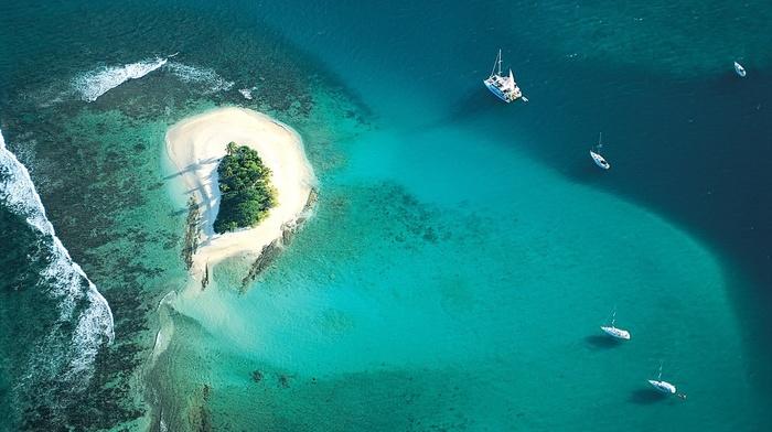 photography, sea, nature, island, boat, water, landscape