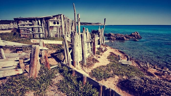 summer, photography, sea, coast, nature, rock, Sun