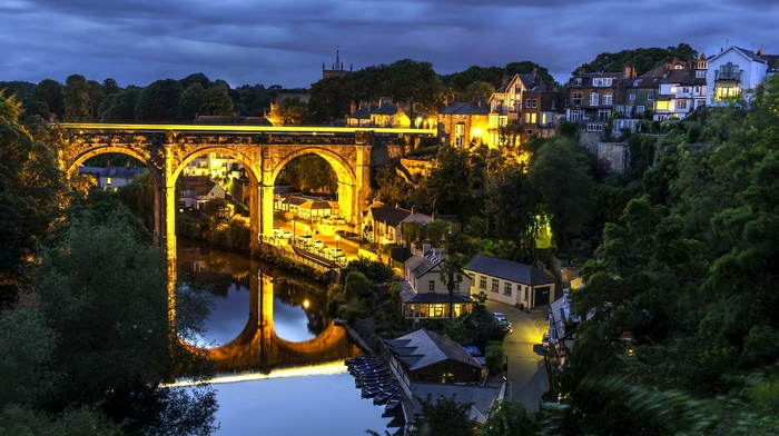 England, urban, Knaresborough, bridge
