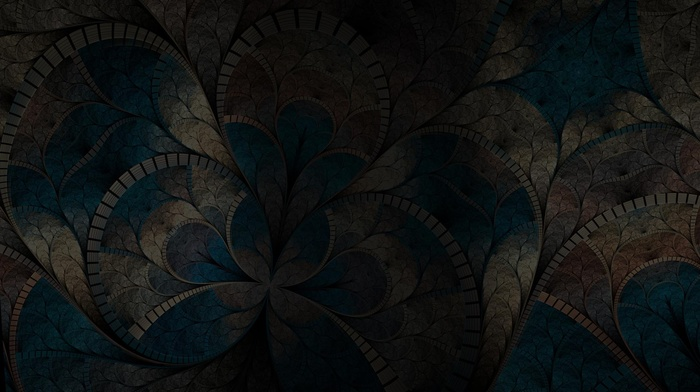 fractal flowers, abstract, dark, digital art, fractal
