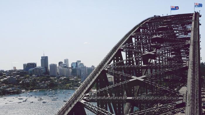 water, urban, cityscape, architecture, Australia, Sydney Harbour Bridge, bridge, photography