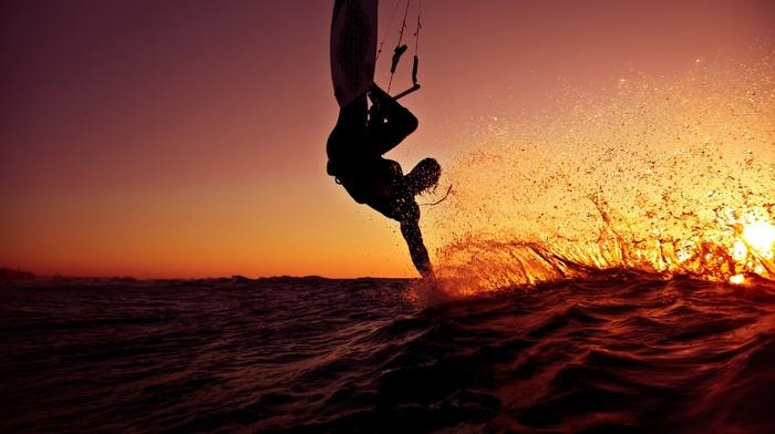 sea, surfing, sport, Sun
