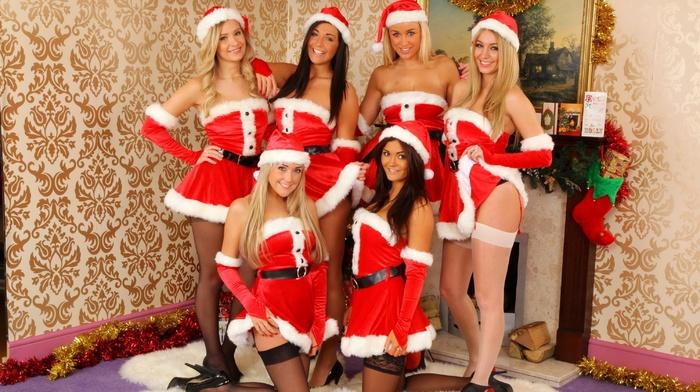 girl, Christmas, model