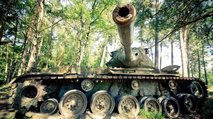 vehicle, wreck, tank