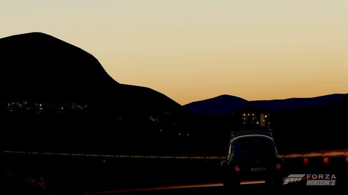 sunset, Forza, Volkswagen, Forza Horizon, Forza Motorsport, night, Volkswagen Beetle, Forza Horizon 2