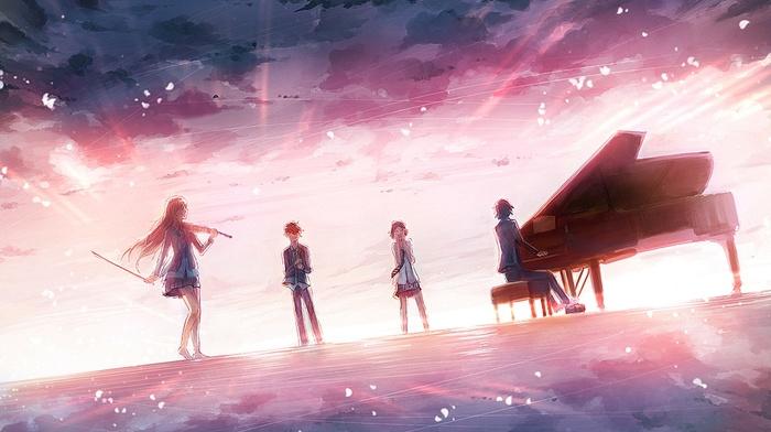 music, Shigatsu wa Kimi no Uso, piano, violin