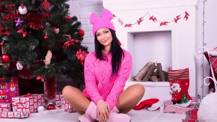 model, girl, Christmas