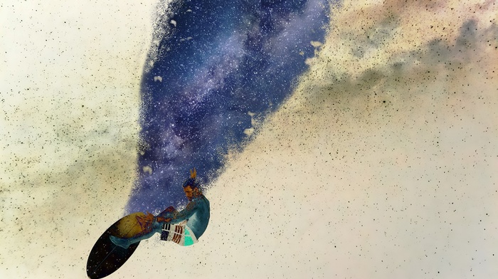 stars, space art, glitch art, space, surfboards, universe, surfing
