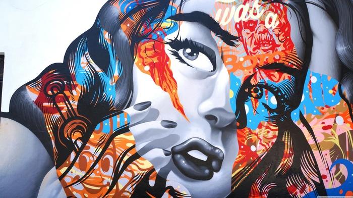 colorful, girl, people, graffiti, BioShock Infinite