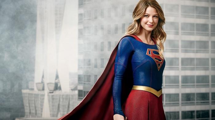 smiling, superhero, TV, DC Comics, girl, Supergirl, blonde, Melissa Benoist