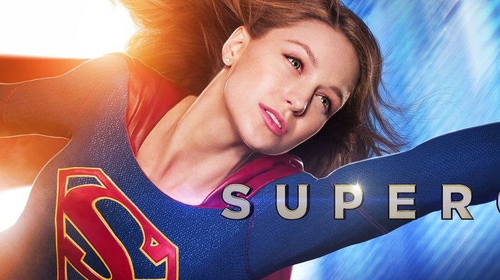 dual monitors, superhero, multiple display, Melissa Benoist, girl, TV, DC Comics, Supergirl